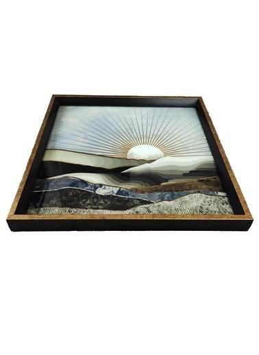 Arte Casero Cam Baskı Güneş Tepsi 40x40 CM Renkli